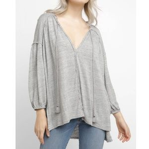 Free People Just A Henley V Neck Tunic Top Large